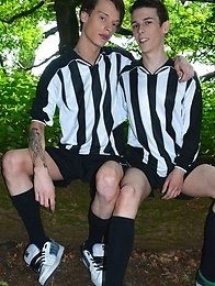 Sportladz: Football Forest Fun Gets Two Brit Boys Out Of Their Kits & Into Hot Raw Suck-&-Fuck Action!